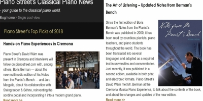 "Two stories about Cremona Musica among Piano Street ""Top Picks"" of 2018"