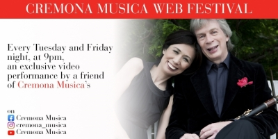 The program of the Cremona Musica Web Festival, every Tuesday and Friday